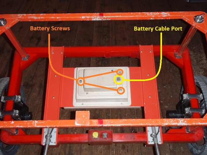 EM61 Cart Battery Assembly