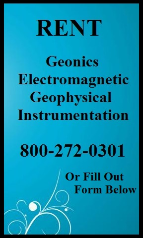 Geonics Electromagnetic Geophysical Rental