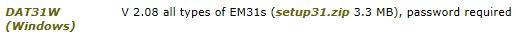 DAT31W installation download link