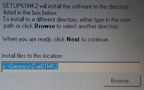 DAT61MK2 Directory Location