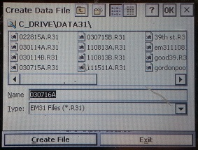 EM31-MK2 Monitor Create Data