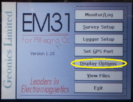 EM31-MK2 Display Options