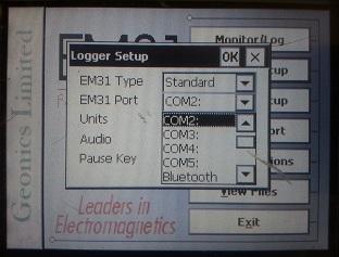 EM31-MK2 Logger Setup Port