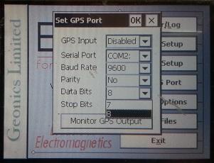 EM31-MK2 Set GPS Data