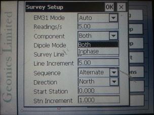 EM31-MK2 Survey Setup
