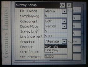 EM31-MK2 Survey Sequence