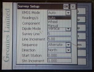 EM31-MK2 Survey Setup Mode