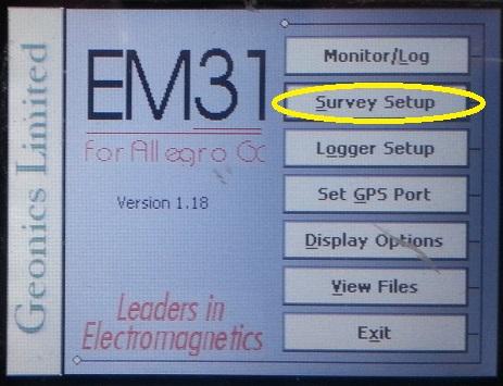 EM31-MK2 Survey
