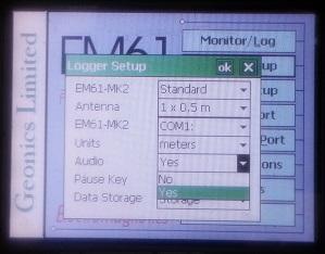 EM61-MK2A Logger Setup