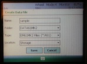 EM61-MK2 Create File Menu