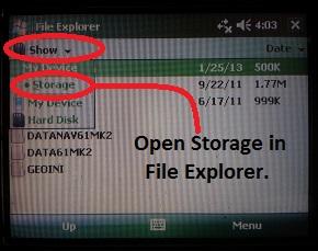 EM61-MK2A Files Storage Directory