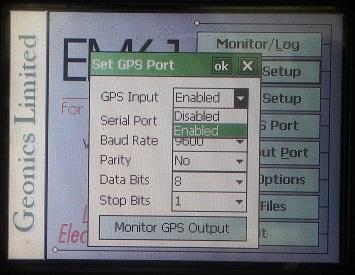 EM61-MK2A Input Menu