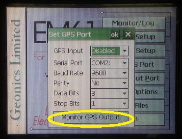 EM61-MK2A Set GPS Port