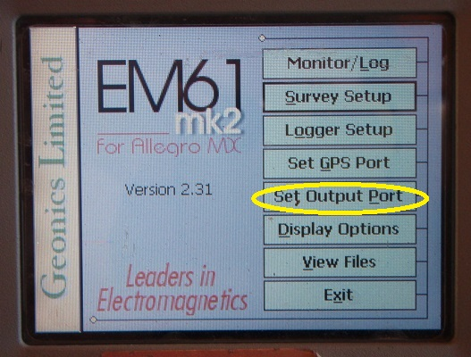 EM61-MK2A Set Output Port Menu