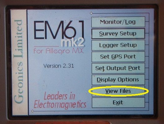 EM61-MK2A View Files Menu