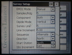 EM31-MK2 Survey Setup Direction