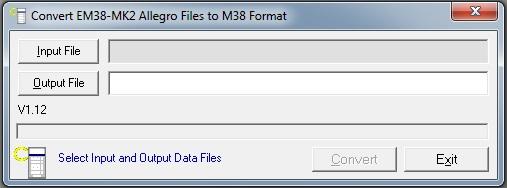 Convert EM38-MK2 Allegro Files to M38