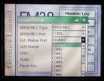 EM38-MK2 Logger Setup External
