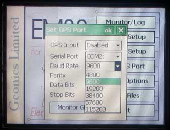 EM38-MK2 GPS Baud Rate