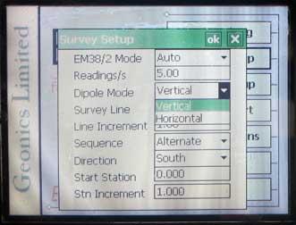 EM38-MK2 Survey Mode