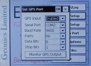 EM38MK2 GPS Setup