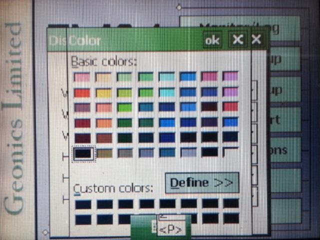 EM34 Display Color Palette