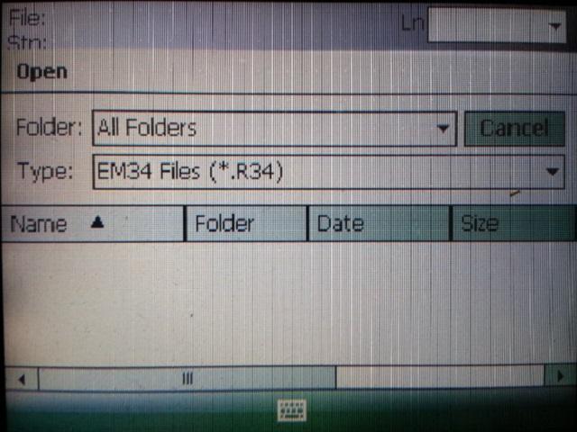 EM34 File Opening