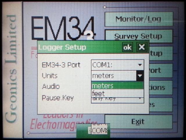 EM34 data logger units