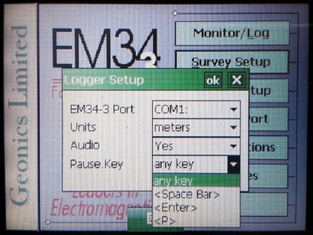 EM34 Pause Key